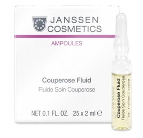 Janssen Sensitive Skin: Сосудоукрепляющий концентрат для кожи с куперозом (в ампулах) (Couperose Fluid), 3*2мл/7*2мл