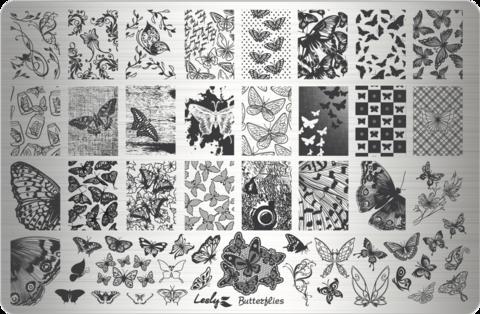 Пластина LESLY 9,5x14,5см Butterflies