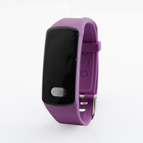 Браслет здоровья с измерением давления, снятием ЭКГ и круглосуточным мониторингом пульса Health Band №11 (фиолетовый)