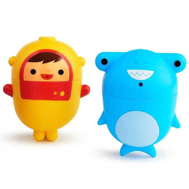 Munchkin игрушки для ванны дайвер и акула  9+