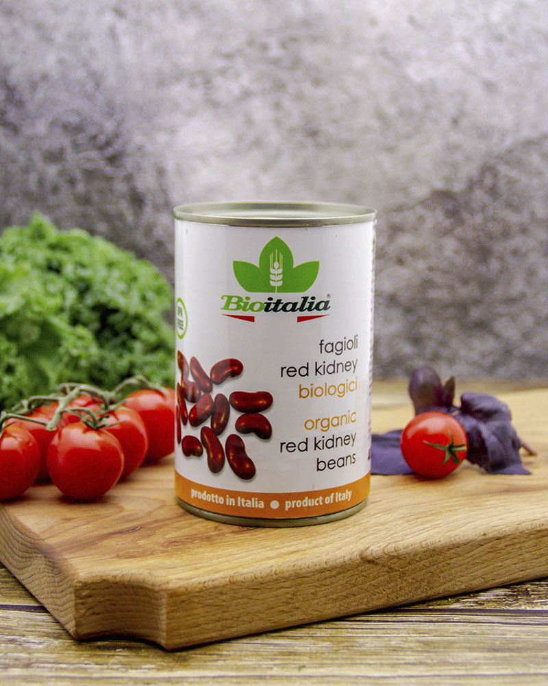 Фасоль красная Bioitalia консервированная 400 гр.
