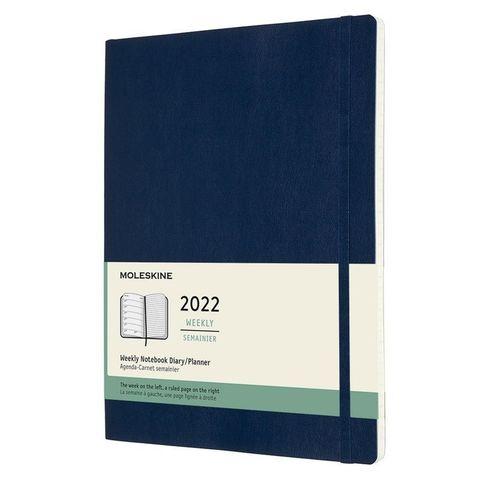Еженедельник Moleskine (DSB2012WN4) Classic Soft WKNT XL 190х250мм 144стр. мягкая обложка синий сапфир