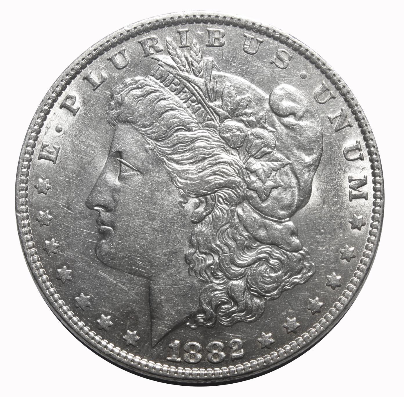 1 доллар 1882 год США (Морган). XF-AU