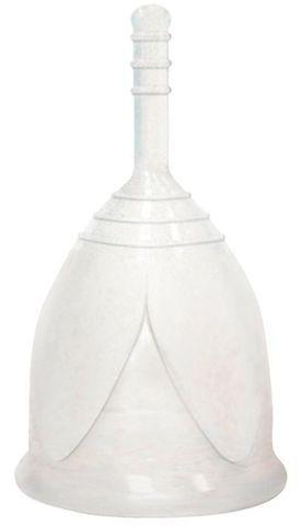 Белая менструальная чаша размера L