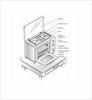 Газовая плита Gefest ПГ 100 настольная, с духовкой, двухконфорочная, белая