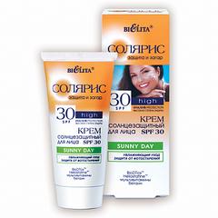 Крем солнцезащитный  SPF 30 для лица SUNNY DAY (туба 50 мл Солярис)