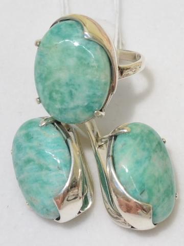Велда (кольцо + серьги из серебра)