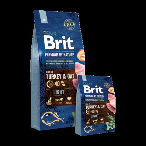Brit Premium By Nature Light Сухой корм для взрослых собак с избыточным весом