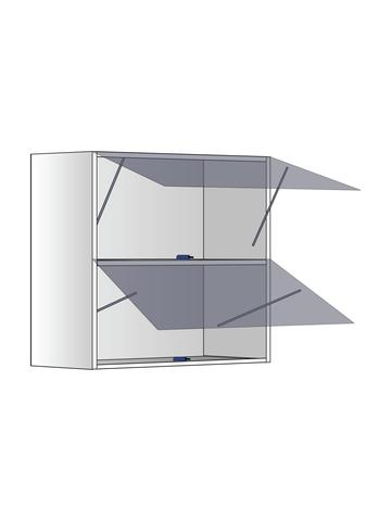 Верхний шкаф c полкой и газлифтами, 600Х600 мм / PushToOpen