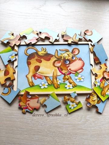Пазл коровка