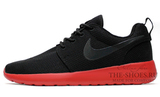 Кроссовки женские Nike Roshe Run Material Black Red