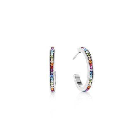 Серьги Multicolour Silver 0139/21-1517 цвет мультиколор, серебряный
