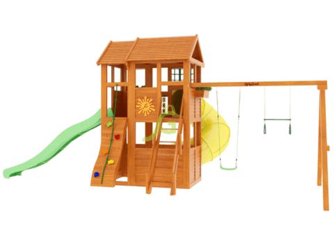 Детская площадка Клубный домик 2 с горкой трубой