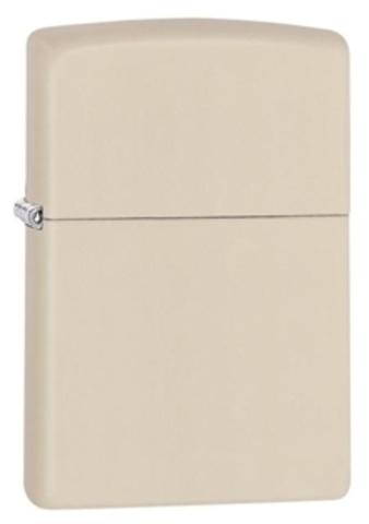 Зажигалка Zippo Classic с покрытием Cream Matte, латунь/сталь, кремовая, матовая, 36x12x56 мм