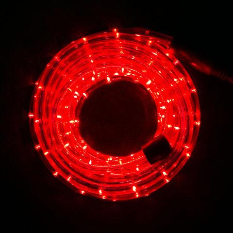 красный дюралайт кусок 10 метров с сетевым шнуром вилкой led