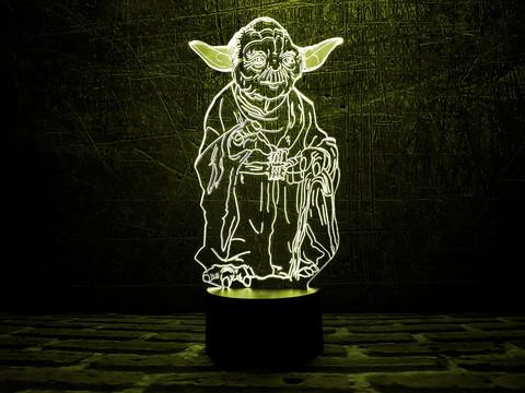 3D лампа Йода