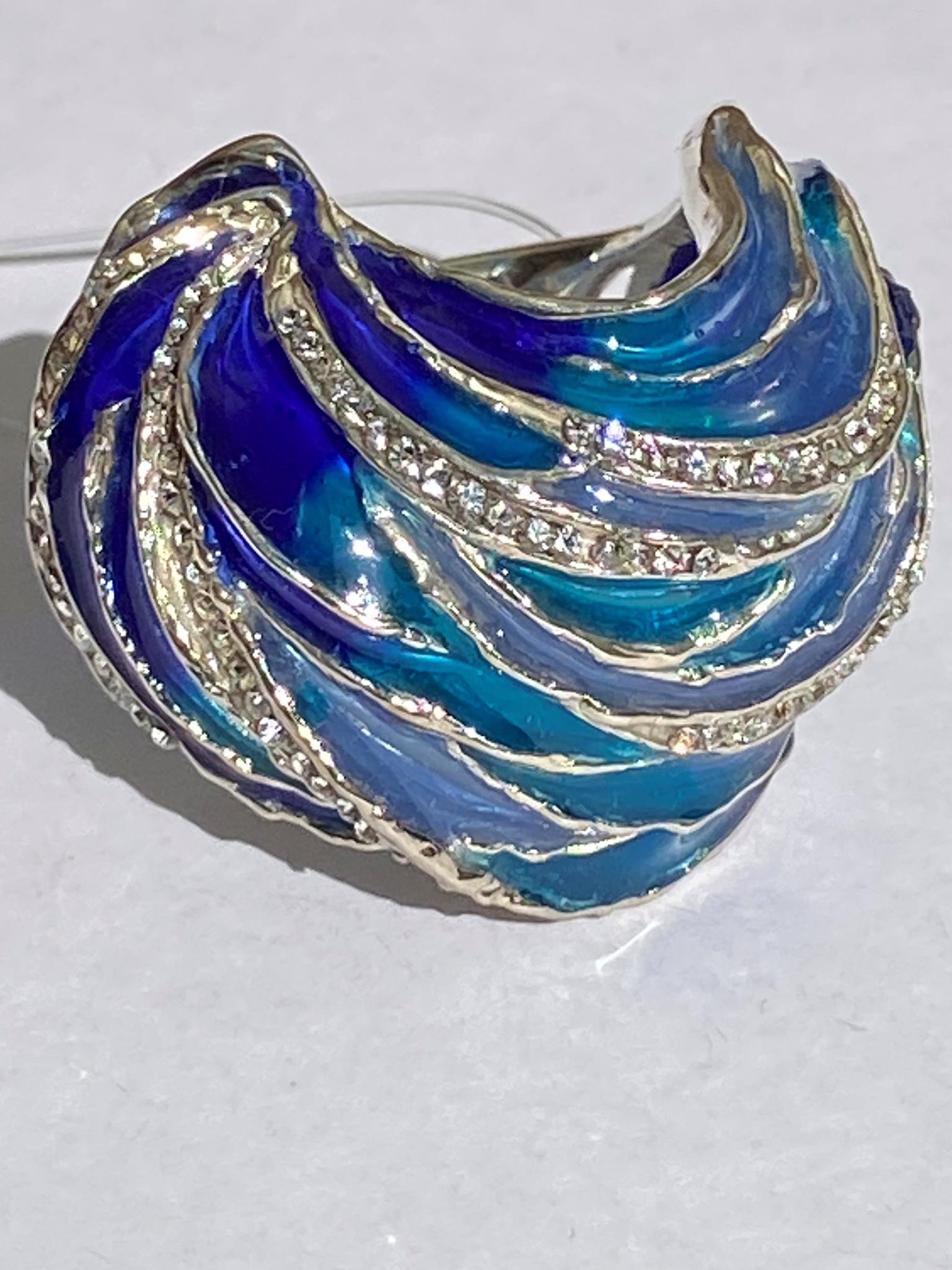 Ундина (кольцо  из серебра)