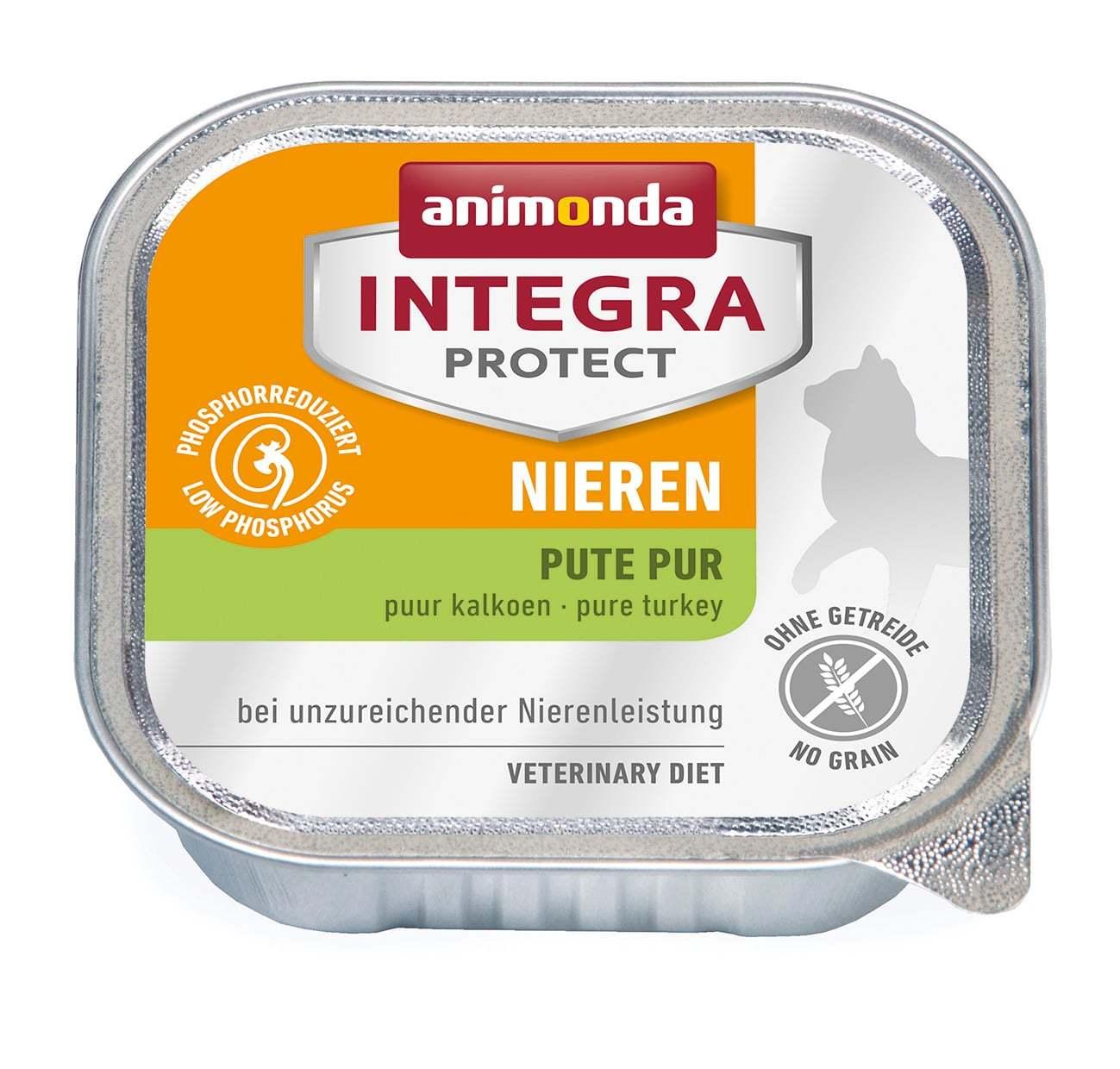 Купить Animonda Integra Protect Cat (ламистер) Nieren (RENAL) pure Turkey для кошек
