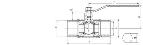 Конструкция LD КШ.Ц.М.032.040.П/П.02 Ду32 полный проход