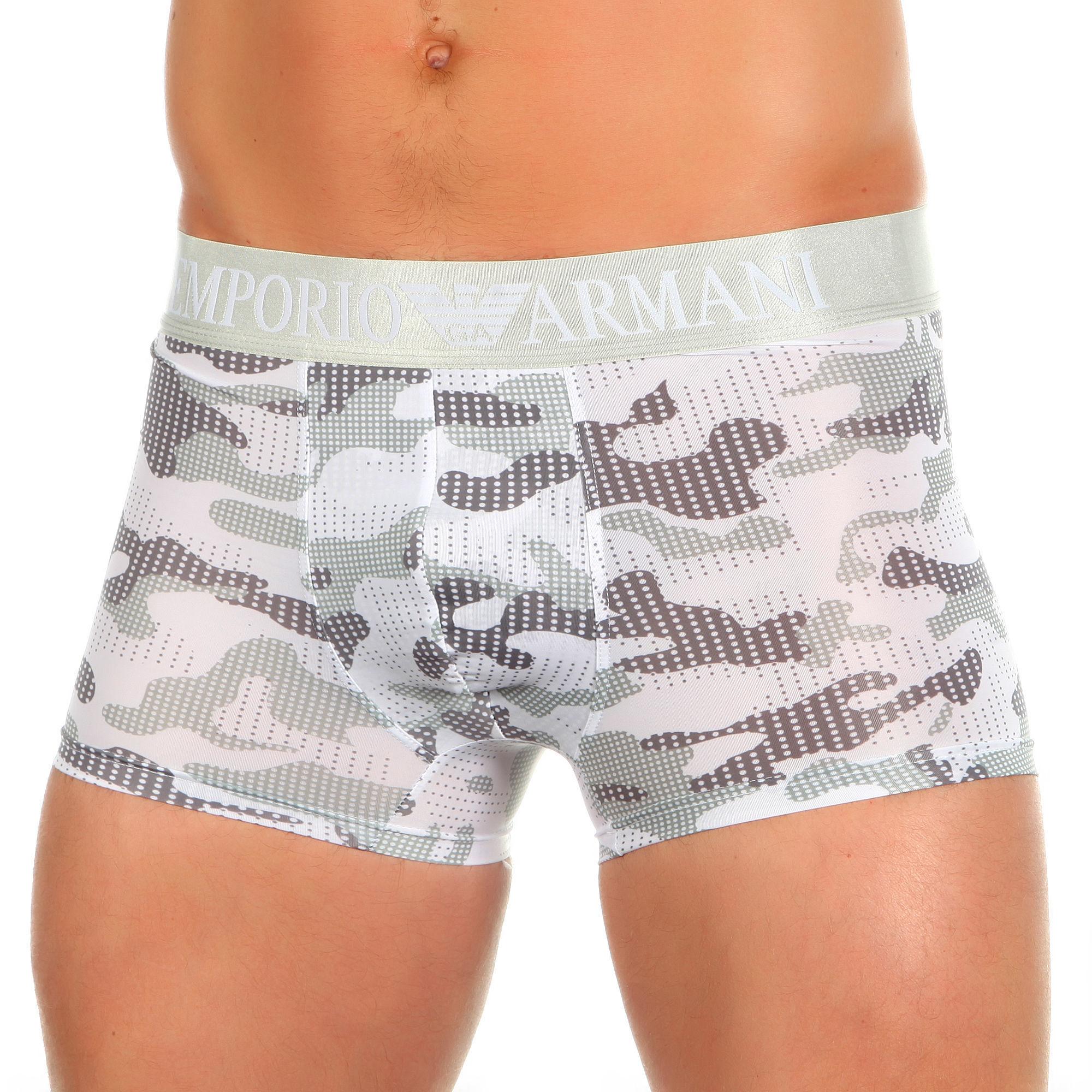 Мужские трусы боксеры серый камуфляж Emporio Armani Camo Grey
