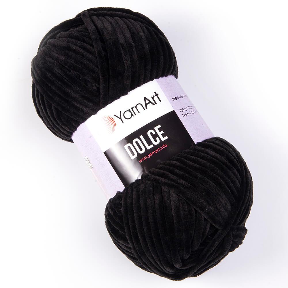 Пряжа YarnArt Dolce черный 742
