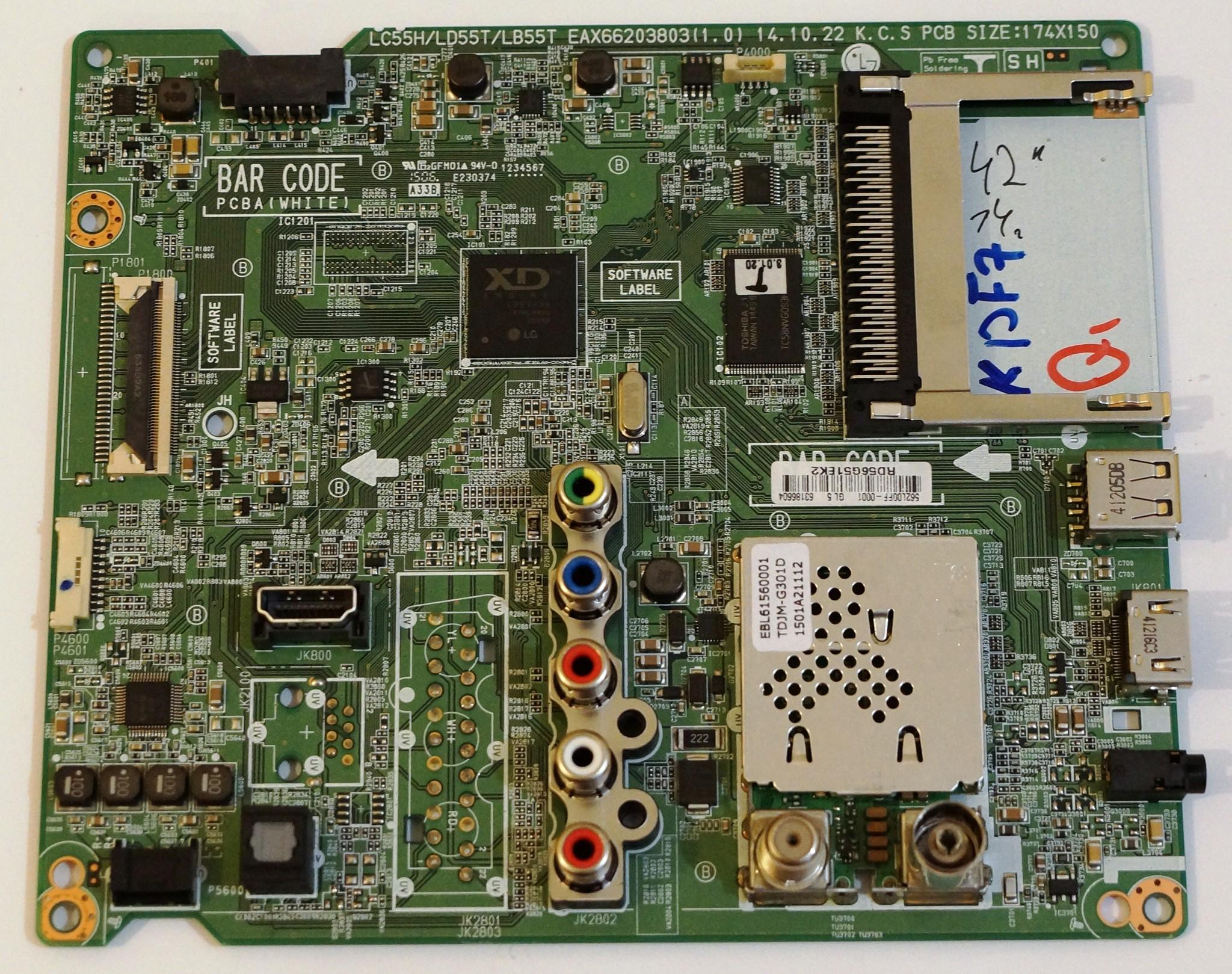 EAX66203803(1.0) EBT63186604 mainboard телевизора LG