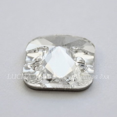 3201 Пришивные стразы Сваровски квадратные Crystal (12 мм)