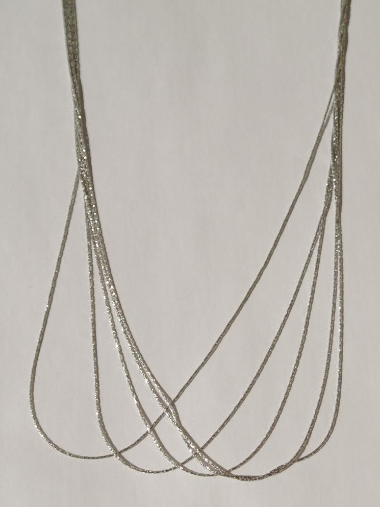 Колье из серебра,5 нитей (серебряная цепочка).