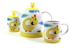 """9366 FISSMAN Чайный набор """"Жираф"""" - чайник заварочный, сахарница, молочник"""