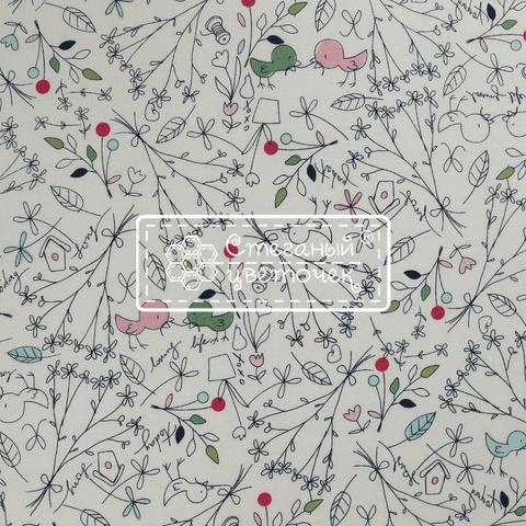 Ткань для пэчворка, хлопок 100% (арт. RB0801)
