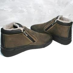 Мужские зимние ботинки на натуральном меху Rifellini Rovigo 046 Brown Black.