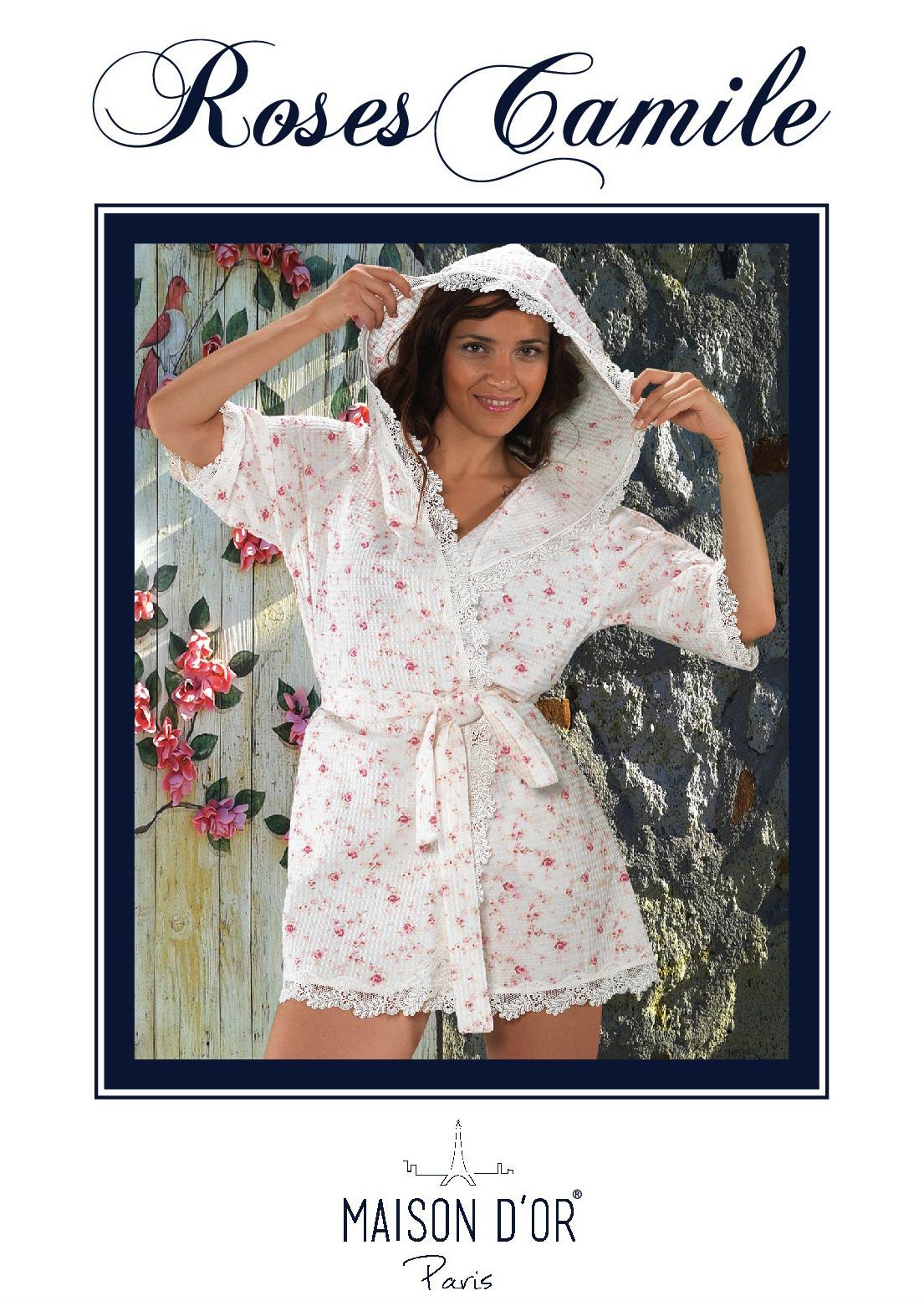 Легкие и вафельные халаты Roses camile - РОСЕС КАМИЛЕ женский вафельный халат  Maison Dor Турция Roses_Camile-K.jpg