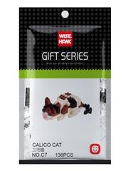 Конструктор Wisehawk & LNO Трёхцветная кошка (ситцевый кот) 136 деталей NO. C7 Calico Cat Gift Series
