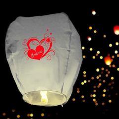 Небесный фонарик романтика Люблю белый