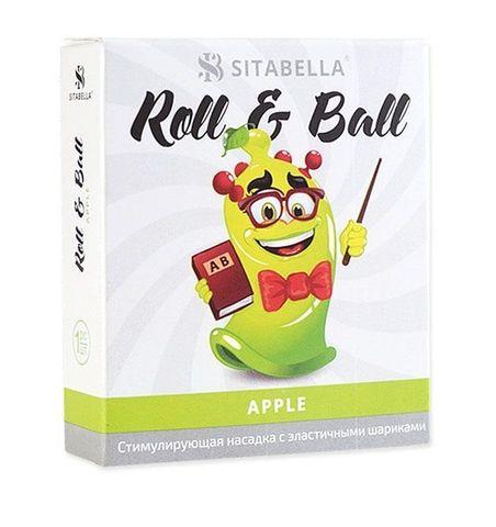 Стимулирующий презерватив-насадка Roll & Ball Apple