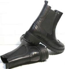Ботинки челси женские кожаные Jina 7113 Leather Black.
