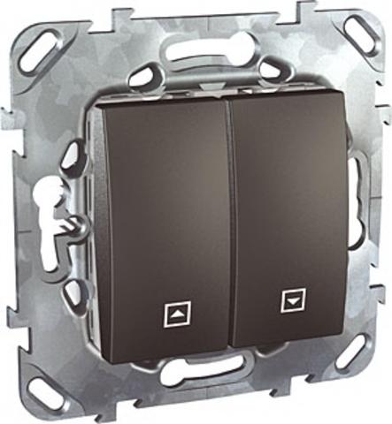 Выключатель для жалюзи без фиксации. Цвет Графит. Schneider electric Unica Top. MGU5.207.12ZD