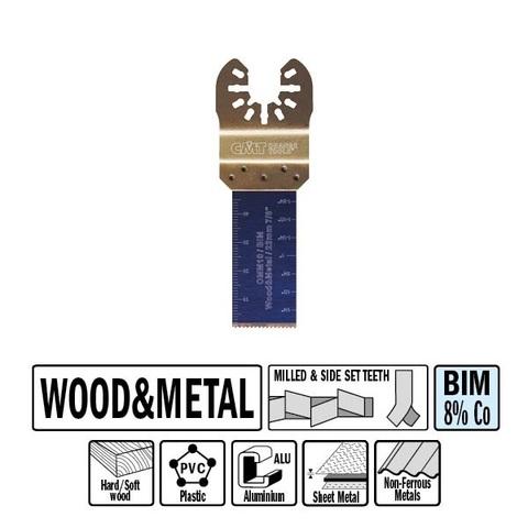 Погружное пильное полотно 22 мм для древесины и металла