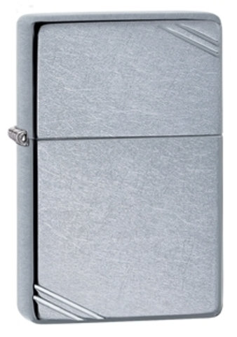 Зажигалка Zippo Replica с покрытием Street Chrome, латунь/сталь, серебристая, матовая, 36x12x56 мм