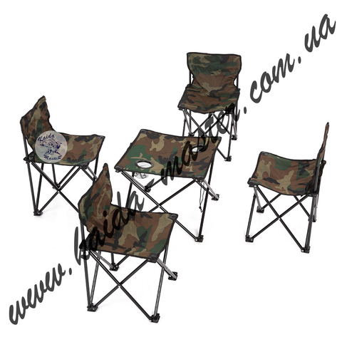 Набор туристической мебели стол + 4 стула