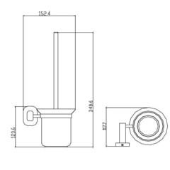 Держатель для туалетной щетки (ершик) настенный KAISER Oval KH-2046  схема