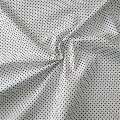 Ткань хлопковая темно-коричневый горошек 3 мм на белом