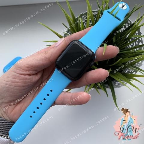 Ремешок Apple watch 42/44mm Sport Band /blue/ ярко-голубой