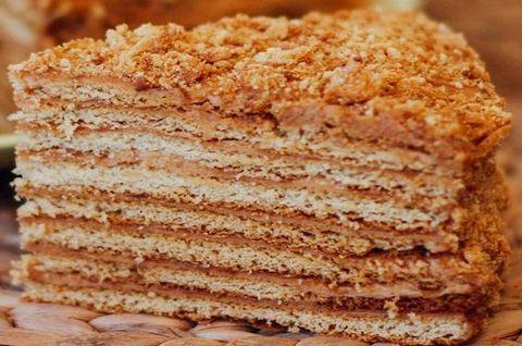 Торт «Медовик» на кокосовом молоке без глютена