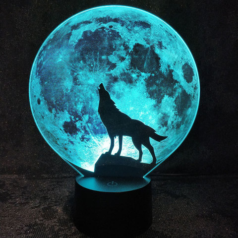 Волк и луна №2