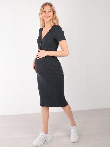 Euromama/Евромама. Платье для беременных и кормящих базовое, темно-синий