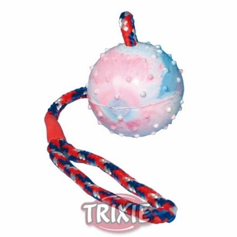 """Trixiе 3305 Игрушка д/собак """"мяч на веревке"""", натуральная резина ф6см*30см"""