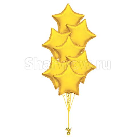 Букет из шаров звезд золотой