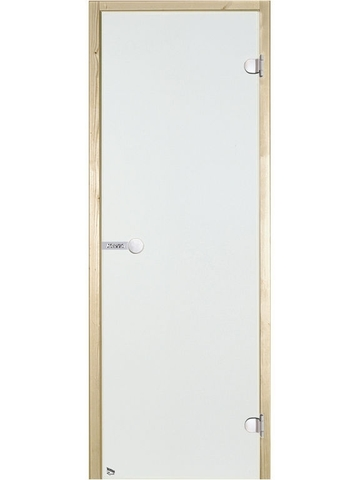 Дверь стеклянная Harvia 7х19, коробка сосна, стекло прозрачное, артикул D71904M