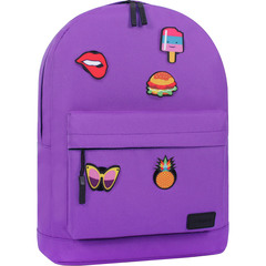 Рюкзак Bagland Молодежный W/R 17 л. 170 Фиолетовый (00533662 Ш)